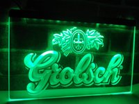 LA007g- Grolsch Beer Bar Pub Club NOUVEAU LED Neon Light Sign
