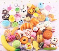 Wholesale Cream Foods - Rising Slow Squishy Rainbow miniature food sweetmeats ice cream cake bread Strawberry Bread Charm Phone Straps Soft Fruit Kids Toys