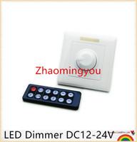 Wholesale Ir Remote Control Switch - DC 12-24V 8A LED Dimmer IR Knob Remote control switch for dimmable LED bulb or LED strip lights