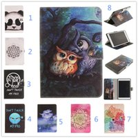 Wholesale Panda Anti Dust - For Apple iPad Mini Case panda pattern Leather Case cover For ipad Mini 1 2 3 tablet with card slot for ipad mini 2 BQD433