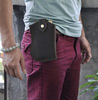 Wholesale private leather resale online - KISSUN Factory Sales Crazy Horse Leather Men Waist Bag Fanny Bag Simple Design Carry Bag For Cellphone And Money Private Lable Welcome