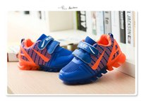 Wholesale Kids Shoes With Light New Spring Net Breathable Boys Fashion Sneakers Chaussure Led Enfant Sport Running Girls Shoes