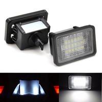 Wholesale Glk Led - 2pcs 18 LED Error Free Number License Plate Light Car Bulb Auto Lamps Rear Light Source Fit For Mercedes Benz GLK 204