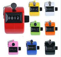 tally zähler ziffer nummer clicker golf großhandel-Beliebte Digital Hand Tally Clicker Counter 4 Digit Nummer Clicker Golf Chrome