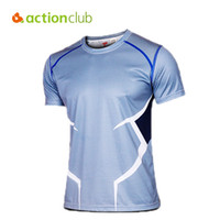 Wholesale Nylon Tee Shirts - Wholesale-Actionclub Men's Sport T Shirt Quick Dry Breathable Fitness Tees Bodybuilding Hiking Shirt Avengers Casual T-shirt MT1059