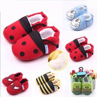 Wholesale Velvet Fabric Baby Shoes - New Arrival Cute Cartoon Animal Plus Velvet Warm Toddler Baby Walking Shoes For Girl and Boy Casual Shoes Retail Wholesale