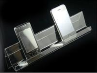 handy-display regal großhandel-Großhandels100pcs Einzelschicht langes Regal Handy-Handy-Display-Ständer, Clear Acryl Handy-Halter Rack FS2-2