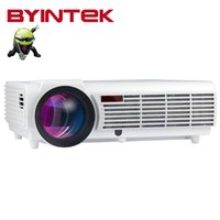 Wholesale Led Projecteur Lcd - BYINTEK BT96 Smart Home Theater Wifi 1080P Video Bluetooth lEd96 LED fuLL HD Projector projecteur Proyector For Iphone Android