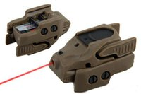 Wholesale Pistol Rail Mount - 5mW Mini Pistol red laser sight red laser pointer mount on 20mm rail for rifle scope black dark earth