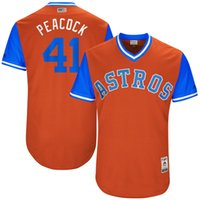 Wholesale Peacock Wine - Houston Astros #41 Brad Peacock Peacock 2017 Little League World Series Players Weekend Authentic Baseball Jerseys Orange