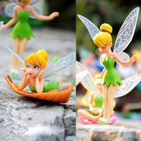 Wholesale Solar Flower Gifts - 6pcs Set Christmas Kids Gift Tinkerbell Dolls Flying Flower Fairy Children Animation Cartoon Toys Girls Dolls Baby Toy