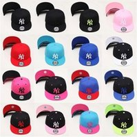 Wholesale Newest Snapbacks For Women - Newest Han edition of NY pink baseball caps flat along Snapbacks can be adjusted Hip hop dance lovers hats for men and women 0351-0352