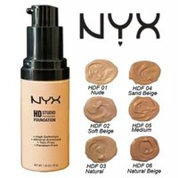 Wholesale Acne Freckle Cream - Latest NYX HD Studio Photogenic 6 Colors Moisturizer Separation Liquid Foundation Concealer 36g Free shipping by DHL