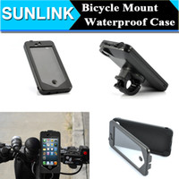 Bicyclette vélo Riding Waterproof Rotating Holder Mount Housse de carrosserie pour iPhone 6 6s Plus 5 5c 5S SE avec forfait de vente au détail