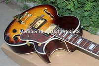 Wholesale Hollow Body Electric Guitars Red - Wholesale- Wholesale custom shop jazz hollow body electric guitar honey sunburst f-hole with gold hardware!