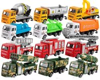 Wholesale Classic Car Years - mini alloy construction vehicle Engineering Car Dump-car Dump Truck Model Classic Toy Mini gift for boy free shipping