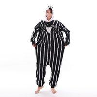Nightmare Before Christmas Jack Skellington Kigurumi Pajamas Jumpsuit Halloween