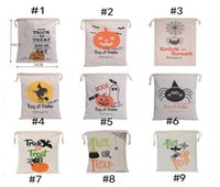 Wholesale Spider Stock - Hot Sale Halloween candy bags Large Canvas Hand Bags Trick or treat Pumpkin Devil Spider Halloween Gift Bags In stock