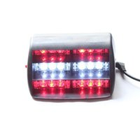 Compra Parabrezza 18-18 LED Emergency Vehicle Strobe Windshields Dashboard Flash DC12V Attenzione Rosso / Giallo / Bianco Giallo / Bianco Rosso Per LUCE POLICE