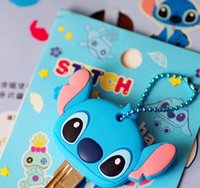 Wholesale Kawaii Key Hooks - Kawaii Lilo Stitch 4CM Rubber KEY Cover Coat ; KEY Wallet Holder Cover Hook Cap Case ; Key Cover Coat Wrap Coat Cover KEY CAP