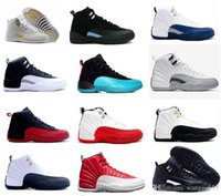 Wholesale Red Rose Boots - 2018 high quality air Retro 12 XII man Basketball Shoes Flu Game French Blue Ovo White Gym Red playoff Boots Size us7-13
