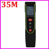 Wholesale laser measurer - Wholesale-SW-P35 Laser Distance Meter Professional Portable 35M Handheld Distance Measurer Golf Rangefinder Range Finder