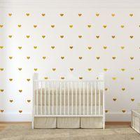 Wholesale Heart Decals - Love Heart Shape Kid Art Wall Sticker Vinyl Removable DIY Home Decor Poster Living Room Kids Bedroom Decals 450PCS LOT