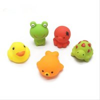 Wholesale Cheap Baby Items - Cheap wholeslea Baby Bath Water Toy Yellow rubber duck 5 kinds of animals such as children swimming beach bath children gifts free shipping