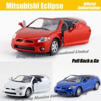 coches eclipse de mitsubishi al por mayor-1:36 Escala de Aleación de Metal Modelo de Coche Diecast Para MITSUBISHI Eclipse Colección Modelo Pull Back Juguetes Coche