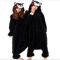 Cosplay Super Natural Hot Sell Meninos Meninas Party Animal Adulto Primavera Black Bear Kumamon Pajamas Onesie Pyjamas dos desenhos animados Anime jumpsuit