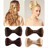 Wholesale Silver Wig Clips - New Fashion Big Bow Ties Wig Hairpin Hair Bow Clips Women Girls' Hair accessories Bridal Hair