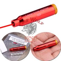 2016 NEW Бесплатная доставка CAL .223 REM Red Laser Bullet Shaped Bore Sighter Cartridge Aluminum Boresighter