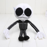 35cm Nightmare Before Christmas JACK Peluche Stuffed Doll Doll Christmas Skeleton roi Novelty cadeau de Noël Décoration de Noël