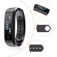 ID115 Smart Band Pulsera Fitness Tracker Watch Pantalla táctil inalámbrica Sleep Monitor Activity Step Calorie Counter distancia para Android / IOSc