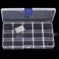 Boîte À 15 Boîtes Pas Cher-10pcs Plastic Jewelry Display Box Case Pill Storage Clear Case Style de Simpleness Medicine Free Box [DSX08 * 10]
