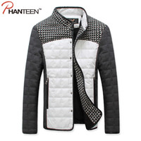 Wholesale houndstooth coat xl - Wholesale- Phanteen Autumn Patchwork Man Jackets Houndstooth Single-breasted Coats Casual Outerwear Fashion Plus Size Men Clothing