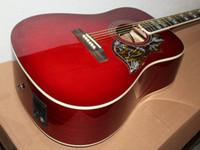 çok elektro gitarlar toptan satış-Çok güzel yeni kırmızı şarap elektro gitar Akustik gitar ile ücretsiz kargo
