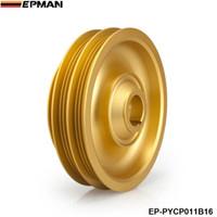 Wholesale Racing Crankshaft - EPMAN - new Racing Light Weight Aluminum Crankshaft Pulley For Honda Civic Si Integra B-Series 99-00 EP-PYCP011B16