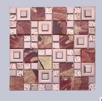 telhas de mosaico vermelho venda por atacado-New red maple leaf fundo mosaico parede estilo europeu moderno fundo telha mosaico fábrica vendas diretas D-944