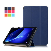 """Wholesale Galaxy S Flip Cover - 3 Fold Tri-Fold Flip PU Stand Leather Case Smart Cover For Samsung Galaxy Tab A 7"""" 8"""" 9.7 10.1 T250 T580 T350 T550 S S2 T700 T800 T715 T815"""