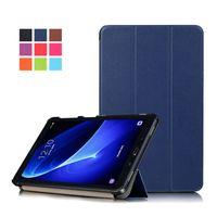 galaxy tab smart cover fold achat en gros de-Etui en cuir avec support de protection en PU pour Smartphone Samsung Galaxy Tab A 7