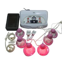 Wholesale Electric Nipple Stimulation - 2017 Home use breast enlargement breast massager machine with women vacuum electric stimulation breast nipple sucking