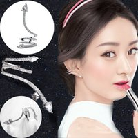 Wholesale Snake Design Earrings - High quality Fashion Zircon Earings Snake Design Earrings Stud Ear Clip For Women Luxury Jewelry CC542