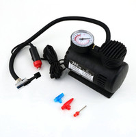 Wholesale inflator air compressor - 12V MINI COMPACT AIR COMPRESSOR 300 PSI bike car van tyre inflator free shipping
