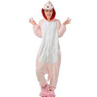 Wholesale Womens Animals Costumes - Winter Unisex Adult Pink dinosaur onesie Pajamas Cosplay animal pajamas onesies pink dragon womens pajamas animal pyjama kawaii Jumpsuit