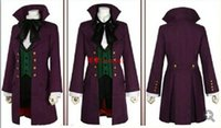 siyah butler anime kostümleri toptan satış-Toptan-Siyah Butler Sezon 2 Earl Alois Trancy cosplay parti anime Cosplay Kostüm Giyim Elbise Seti Tam Set 5 / lot