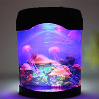 Wholesale Direct Aquarium - Manufacturers wholesale direct sales electronic jellyfish aquarium simulation jellyfish night light night light explosion models hot