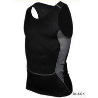 Wholesale Wholesale T Shirts Fitness - Wholesale-Men Compression Tight T-Shirt Base Layer Fitness Gym Workout Vest Tank Tops S-XXL Hot