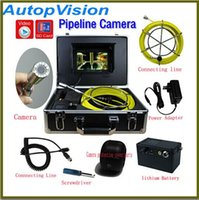 Wholesale Endoscope Camera Lcd - New Arrival 30m Cable 7'' TFT LCD Sewer Pipeline Endoscope Inspection Snake Camera Steel Lens Waterproof with dvr