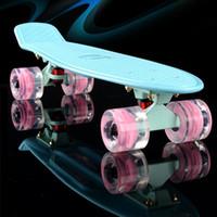 Wholesale Banana Boards - Wholesale- New Plastic mini cruiser skateboard small skateboarding single banana longboard adult children become warped road skate board